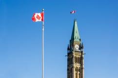 Закройте вверх башни мира в Оттаве, Канаде Стоковые Фото