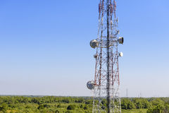 Закройте вверх башни радиосвязи Стоковое Фото