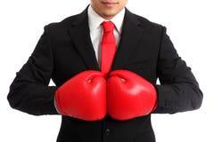 Закройте вверх боксера бизнесмена Стоковая Фотография RF