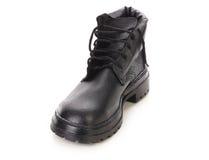 Закройте вверх ботинка черноты зимы. Стоковая Фотография RF