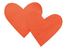 Закройте вверх бумажных форм сердца Стоковое Изображение RF
