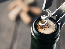 Закройте вверх бутылки вина Стоковая Фотография