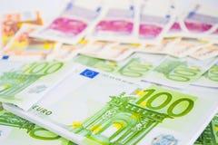 Закройте вверх валюты евро Стоковое фото RF