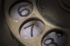 Закройте вверх винтажной шкалы телефона - 7 стоковые изображения rf