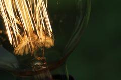 Закройте вверх винтажной электрической лампочки стоковое изображение