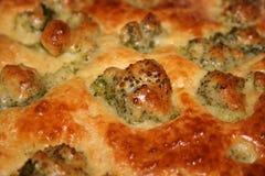 Закройте вверх вкусного пирога брокколи Стоковые Фотографии RF