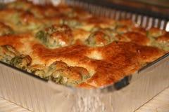 Закройте вверх вкусного пирога брокколи Стоковое Изображение RF