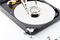 Закройте вверх внутри жесткого диска Стоковые Изображения RF