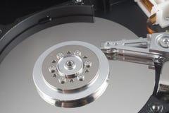 Закройте вверх внутри трудного привода (HDD) Стоковые Фотографии RF