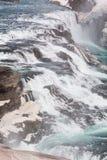 Закройте вверх водопада Gullfoss в Исландии стоковое изображение rf