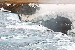 Закройте вверх водопада Gullfoss, Исландии стоковое изображение