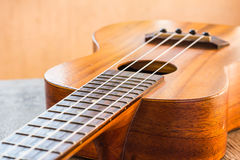 Закройте вверх гавайской гитары Стоковое Изображение