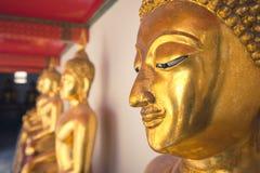 Закройте вверх головы Будды в виске pho wat в Бангкоке, Таиланде, Азии стоковая фотография rf
