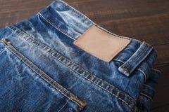 Закройте вверх голубых джинсов, текстуры голубых джинсов Стоковое Фото