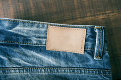 Закройте вверх голубых джинсов, текстуры голубых джинсов Стоковое фото RF