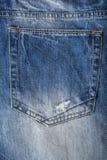 Закройте вверх голубых джинсов, текстуры голубых джинсов Стоковые Изображения RF