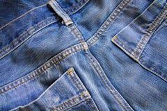 Закройте вверх голубых джинсов Стоковое Изображение RF
