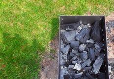 Закройте вверх гриля барбекю в подготовке Стоковое Изображение RF