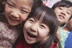 Закройте вверх группы в составе дети Стоковые Фото