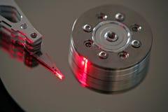 Закройте вверх диска жесткого диска компьютера Стоковая Фотография
