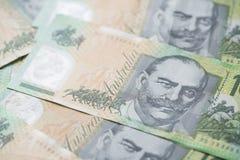 Закройте вверх долларовых банкнот австралийца 100 Стоковое Изображение