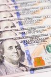 Закройте вверх долларовых банкнот американца денег Стоковое Изображение RF
