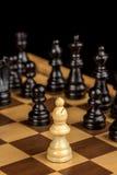 Закройте вверх епископа на шахматной доске Стоковое фото RF