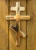 Закройте вверх деревянной шлюпки палубы Стоковая Фотография