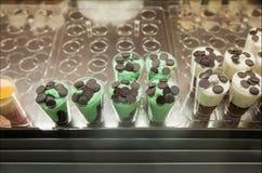 Закройте вверх десерта мороженого Стоковое фото RF