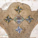 Закройте вверх детали виллы Cimbrone на побережье Амальфи Стоковые Изображения RF