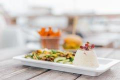 Закройте вверх, еда риса Стоковая Фотография RF