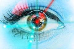 Закройте вверх женского глаза Стоковое Изображение RF