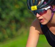 Закройте вверх женского Triathlete Стоковая Фотография