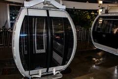 Закройте вверх закрытого экстерьера кабины колеса ferris Окна стоковое изображение