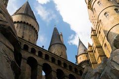 Закройте вверх замка Hogwarts стоковые фото