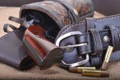 Закройте вверх западного 6 револьверов стрелка стоковые фотографии rf