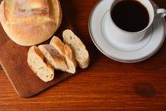 Закройте вверх здравицы и кофе Стоковое Изображение RF