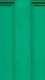 Закройте вверх зеленой двери Стоковые Изображения RF