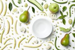 Закройте вверх зеленых овощей и плодоовощей для предпосылки Стоковое фото RF