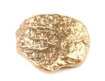 Закройте вверх золотого самородка. Стоковое Фото