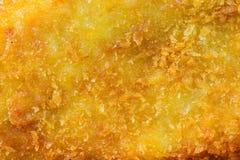Закройте вверх золотых зажаренных рыб Стоковое Изображение