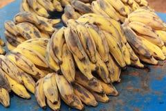 Закройте вверх зрелого банана Стоковые Фото