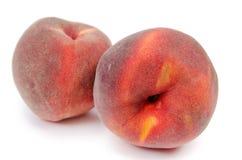 Закройте вверх 2 зрелых персика Стоковые Фото