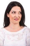Закройте вверх изумленной женщины Стоковая Фотография RF