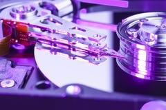 Закройте вверх дисковода жесткого диска компьютера Стоковое Изображение