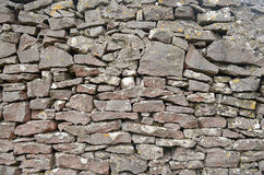 Закройте вверх каменной стены, коллекторной долины, Стаффордшира, Англии Стоковые Изображения