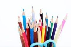Закройте вверх карандашей цвета с различным цветом. Стоковые Изображения RF