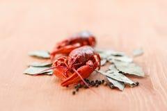 Закройте вверх кипеть crawfish Стоковые Фото