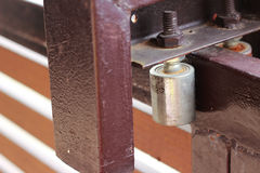 Закройте вверх, коричневое скольжение загородки Стоковые Фотографии RF