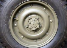 Закройте вверх колеса военного транспортного средства Стоковое фото RF